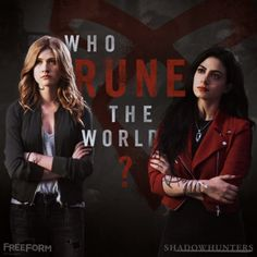 Clary and Izzy girl power!