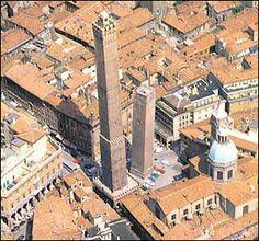 Torre degli Asinelli, Bologna. The taller one. I climbed it :)