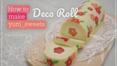 How to make floral design Rollcake! | yunisweets Deco Roll - YouTube