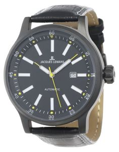 Jacques Lemans Men's 1-1723E Porto Automatic Sport Analog Automatic Movement Watch. Automatic movement. Case diameter: 48 mm. Analog watch, automatic movement. Hardened crystex crystal. Water resistant to 330 feet (100 M): suitable for snorkeling, as well as swimming, but not diving.