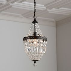 Vintage wrought iron 141 h small crystal chandelier cobnalli birch lane evelynne crystal chandelier loricyk88 thoughts too small that room isn mozeypictures Images