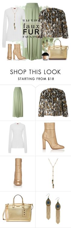 """""""Faux Fur Coat"""" by moondawn ❤ liked on Polyvore featuring Givenchy, Moschino, Missoni, Gianvito Rossi, Lucky Brand, Henri Bendel and fauxfurcoats"""