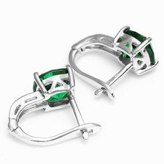 Nano Russian Emerald Engagement Wedding Earrings Clip Only $149.9 => Save up to 60% and Free Shipping => Order Now! #Bracelets #Mystic Topaz #Earrings #Clip Earrings #Emerald #Necklaces #Rings #Stud Earrings