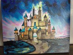 Disney castle by abbyjacks on Etsy, $250.00