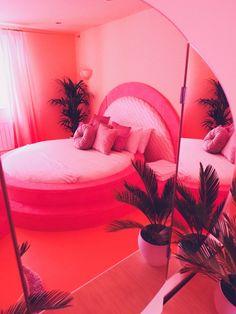 pink house pink bedroom pink interiors round bespoke 70s sunken bed