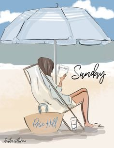 The Heather Stillufsen Collection from Rose Hill Designs Rose Hill Designs, Bisous Gif, Summer Beach Quotes, Sunday Rose, Hello Weekend, Hello Sunday, Weekend Days, Beach Art, Woman Quotes