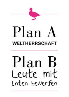 "Poster mit Spruch ""Weltherrschaft"" // poster with writing by Ask & Embla via DaWanda.com"