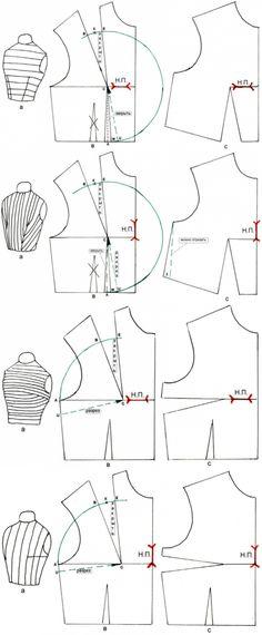 Work with striped fabric...♥ Deniz ♥