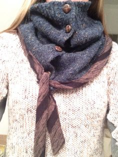 DIY scarf created from an old cardigan.