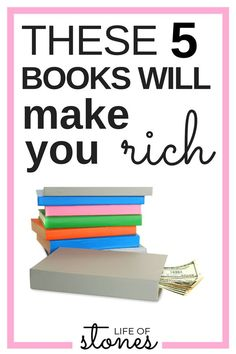 These 5 money books will help you change your finances and teach you how to pay off debt, save money and build wealth! These personal finance books have completely changed the way I think about money and!! They are a must read! #buildwealth #moneybooks #readinglist