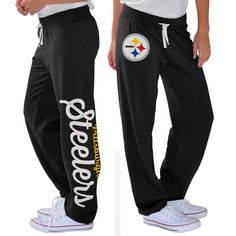 Pittsburgh Steelers G-III 4Her by Carl Banks Women s Scrimmage Fleece Pants  - Black 74091cd7d