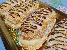 Flan, Hot Dog Buns, Cake Pops, Sweet Recipes, Donuts, Banana Bread, Coconut, Cheesecake, Chocolate