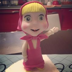 Masha cake topper fondant - cake fondant - particular - happy birthday baby girl