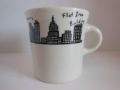 Homer Laughlin New York Skyline Coffee Mug Fish Eddy's NYC | WorthPoint
