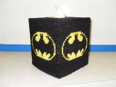 Batman Tissue Cover Plastic Canvas by PConnerCrafts on Etsy