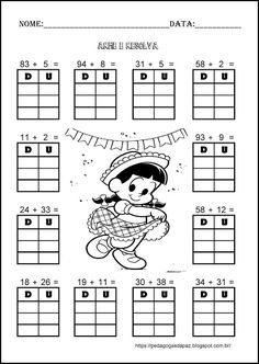 Math Addition, Addition And Subtraction, Homeschool Worksheets, Math 2, Fall Crafts For Kids, Place Values, Home Schooling, Algebra, Classroom