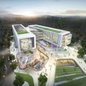 Office Building Architecture, Architecture Panel, Architecture Visualization, Green Architecture, Landscape Architecture, Architecture Design, Mix Use Building, Building Design, Architecture Concept Drawings