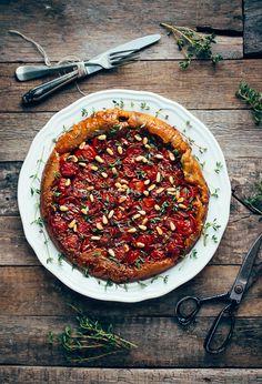 Tarte tatin met tomaten