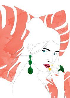 Baguera Vectory Earrings Jade
