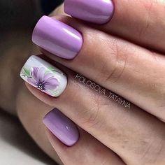 nail art designs for spring * nail art . nail art designs for winter . nail art designs for spring . Cute Summer Nail Designs, Purple Nail Designs, Cute Summer Nails, Flower Nail Designs, Simple Nail Art Designs, Nail Designs Spring, Beautiful Nail Designs, Easy Nail Art, Cute Nails