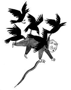 Kidnapped by crows -- Carson Ellis