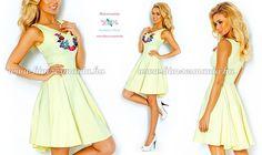 6fd2d9e611 Kalocsai mintás sárga loknis ruha. Kézi hímzés. Már a www.himzesmania  webshopban is. Hímzésmánia