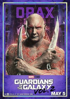 Disney and Marvel have released character posters for the upcoming Guardians of the Galaxy Vol. They continue the film's retro theme as they have a trading card style. Guardians of the Galaxy Vol. Marvel Comics, Films Marvel, Marvel Heroes, Gardians Of The Galaxy, Guardians Of The Galaxy Vol 2, Galaxy Movie, Galaxy 2, Star Wars Film, Rocket Raccoon