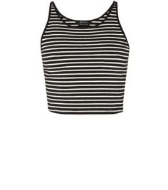 This essential racer vest, in a classic stripe pattern, is the perfect outfit builder to last throughout the seasons. Chic Dress, Spring Summer Fashion, New Look, Monochrome, Fashion Online, Personal Style, Vest, Crop Tops, Clothes For Women