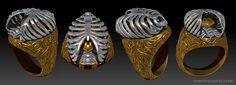 """""""Beloved"""" caged heart ring designed by Marco Valenzuela 2014"""