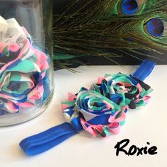 """The best things are wild and free. Just like our """"Roxy"""" headband. https://www.etsy.com/listing/216699628/multi-color-shabby-roxie-headband-baby?ref=related-0   #funky #lovely #baby #newborn #kids #hairaccesories #girl #babygirl #toddlergirl #kidcouture #chic  #etsy #shopbowboulevard #bow #bows"""
