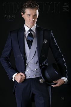 Midnight blue formal suit for groom  wedding  tuxedo  luxury  menswear   madeinitaly bd0c7f1676e