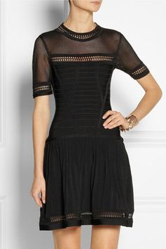 Wholesale Black Multi-Stitched Frock Style Designer Bandage Dress