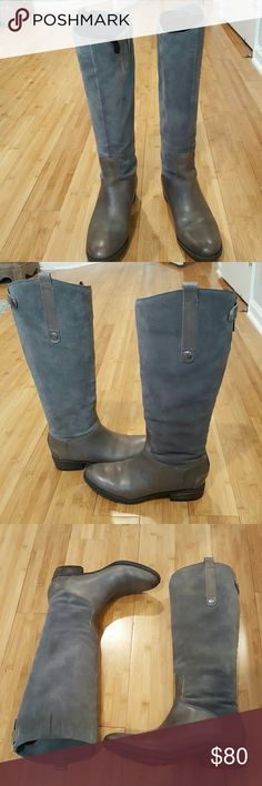 Gray Leather/Suede Boots by Sam Edelman Stylish gray suede/leather boots by Sam Edelman.  These are the Pembroke style. Gorgeous gray color great condition and very comfortable. Perfect boot and must have for the fall. Boots come with original box. Sam Edelman Shoes Ankle Boots & Booties