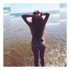 @blancaalgaba wearing a #tropical #bikini by #surania www.surania.com