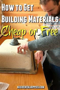 Easy ways to save tons of money on building supplies or even get them for free. #diy #savemoney