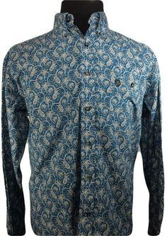 Wrangler George Strait LARGE Western Shirt Blue White Paisley Long Sleeve Cotton http://ebay.to/2dy9XAD #studlyduds #ebay #popular #shopping #closetsale #shopmycloset #forsale #mensfashion #menswear #mensstyle #outfitoftheday #closetshop #clothesforsale #onlineshop  #thriftedsale #thrift #affordable #wrangler #georgestrait #paisley #western #blue