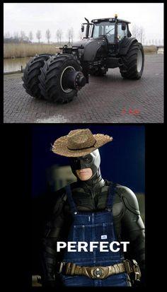 Batman-farmer-tractor...jajajaja