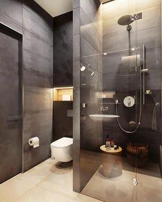 9 latest bathroom decor ideas that match with your home design 3 Bathroom Design Luxury, Bathroom Layout, Modern Bathroom Design, Home Interior Design, Small Bathroom, Master Bathrooms, Bathroom Ideas, Brick Bathroom, Bathroom Tubs