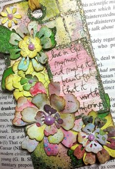 More with the Tattered Florals and Tattered Garland dies/ distress paints