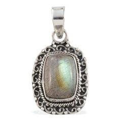 Artisan Crafted Malagasy Labradorite (Cush) Pendant without Chain in Sterling Silver Nickel Free TGW 7.79 Cts.