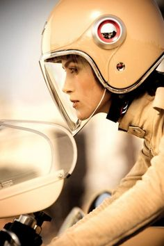 Impressive retro imagery of Keira Knightley and a Ducati Cafe Racer for Chanel Ducati Cafe Racer, Ducati Motorbike, Ducati 750, Cafe Racers, Scooters, Biker Chick, Biker Girl, Motorcycle Girls, Motorcycle Style