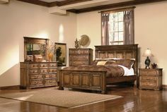 9a12a829b119 King Size Bedroom Set in Warm Brown Oak Finish by Coaster  Kitchen   Dining