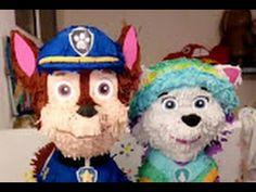 Piñata de Chase, How to make  Paw Patrol  piñata, Patrulla Canina, - YouTube