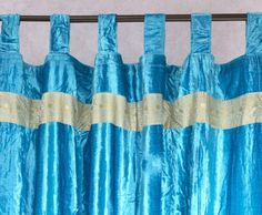 Velvet Curtains made from rich velvets with embroidered trim and thick loop tops for hanging. Completely hand made and feature a coordinating intricate border on the top and bottom. Velvet Curtains, Sheer Curtains, Panel Curtains, Bedroom Curtains, Indian Curtains, Indian Bedding, Bolster Cushions, Throw Pillows, Indian Style Bedrooms