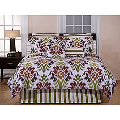 @Overstock - Enjoy this 'Montgomery' duvet cover set featuring a bright, modern floral design of red, rust, and sage printed on a white backdrop. Made of 100-percent cotton, this duvet cover set is as soft as it is fun.  http://www.overstock.com/Bedding-Bath/Montgomery-300-Thread-Count-Cotton-3-Piece-King-Duvet-Cover-Set/6373425/product.html?CID=214117 CAD              94.05