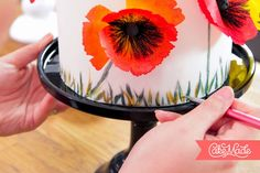 Kara's Couture Cakes - The Blog-Tutorial for wafer paper PoPPies!!