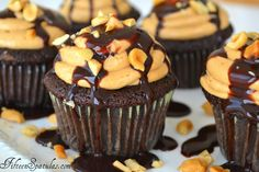 chocolate cupcakes with peanut butter buttercream