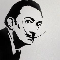 Salvador Dali stencil Home decor stencil art by IdealStencils