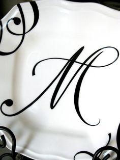 Antique Letter M Script Monogram Digital by AntiqueGraphique M M Letter Design, Alphabet Letters Design, Alphabet Images, Monogram Letters, Creative Lettering, Lettering Design, Fancy Letter M, Letter M Tattoos, Monogram Tattoo