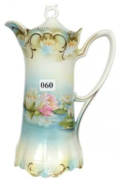 """9 1/2"""" UNMARKED PRUSSIA CHOCOLATE POT"""